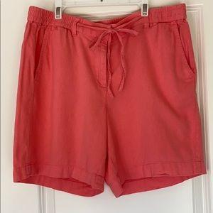 Talbots coral easy drawstring shorts, 10